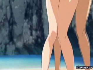Outdoor beach penetration for Hentai babes