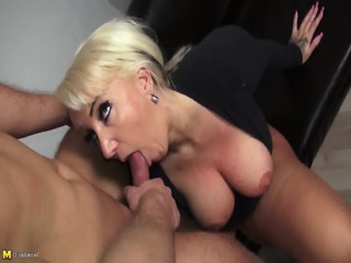 Busty Mom Gets Rammed On Sofa