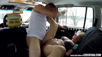 Mature Czech blondie gets picked up in the cab to put out