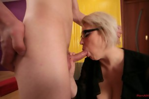 Mature fucking by an young dick