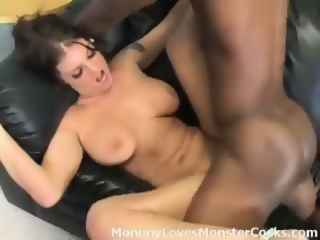 A big black cock pounds on this MILFs pussy and ass