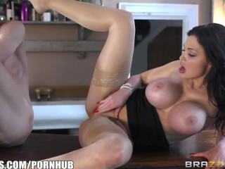 Brazzers - Aletta Ocean fucks in a coffee shop