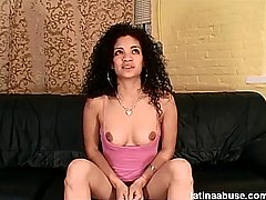 former mistress leslie gags on cock and gets dp