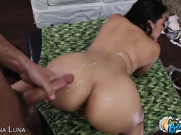 stellar xxl culo latina maid get bootie loaded with spunk in point of view
