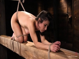 Tied Babe Gets Abused