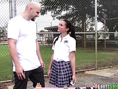 bald headed dude j mac ravages saucy puny gal kharlie stone