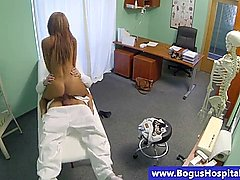 Patient riding on her doctors cock and cant get enough