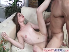 Alice March deepthroat his dick before bang hard