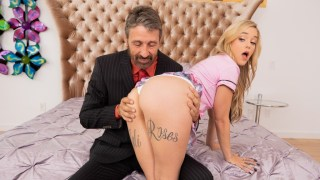 Stepfather Punishes Slutty Stepdaughter Kali