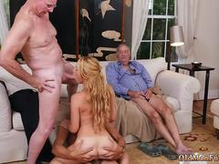 Daddy compeers daughter panties Frannkie And The Gang Tag Team A Door To Door Saleswoman on GotPorn 11271226