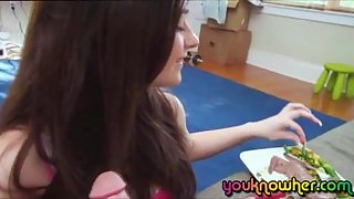 Horny Girl Gets Banged In the Kitchen Room