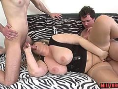 big tits milf threesome and cum on tits video on GotPorn 11272764