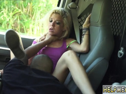 Teen amateur blonde tied xxx Halle Von is in town on