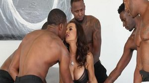 Lisa Ann Black Out 3 Gangbang