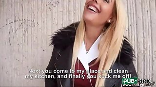 Cutest Blonde Chick Hard Drilled and Facial