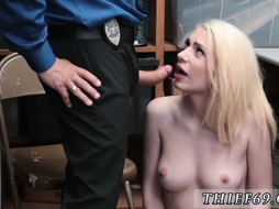 Dad still virgin and fake cop squirt first time LP