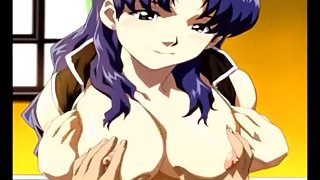 Blue Hair Anime Teen Fucking Dirty Anime Cock in Her Wet Pussy