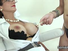Adulterous british milf lady sonia exposes her oversized jugs on GotPorn 11466222