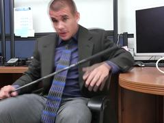 Queer hardcore threesome with white hunks and studs at the office on GotPorn 11465532