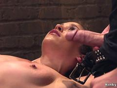 Shaved pussy slave banged and caned on GotPorn 11464966