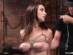 Busty slave rides big cock masked master on GotPorn 11493044