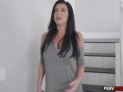 Busty MILF stepmom shows lingerie and got his fat dick on GotPorn 11518830