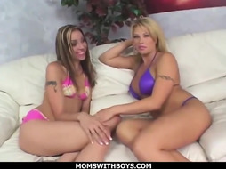 Brooke Haven and Delilah Heavy had a 3 way with their fresh neighbor until they got heavy breathing