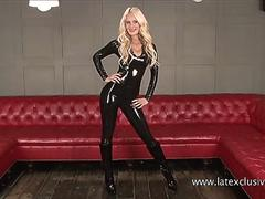 Sexy softcore model Alessandras latex fetish and rubber outfits on GotPorn 11725490