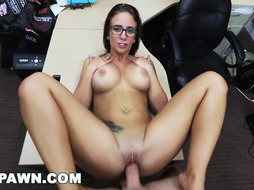 HARDCORE PAWN Lusty Latina Layla London Getting Pummeled In A Pawn Store