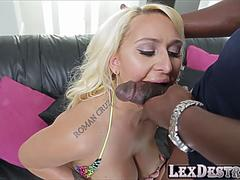 Blonde Nina Kayy teases interracial pussy pounding on GotPorn 11736972