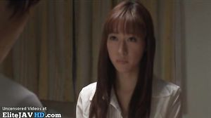 Japanese horny student visits teacher at home