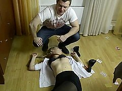 Beauty russian women strangled and stripped