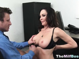 Office Hard Core Fuckfest With Super Steamy COUGAR Chief