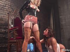 Lesbian in latex anal fucks submissive on GotPorn 11959332