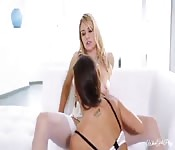 Hot lesbian sex with Natalia and Abigail