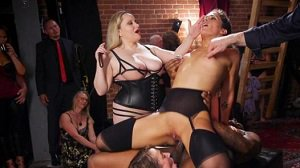 Aiden Starr Victoria Voxxx Zoe Sparx Orgy of BDSM Players Train Anal Submissives to Fuck and Serve