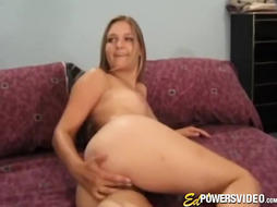 Adorable blond fellates man sausage and then gets her cock squeezing crevasse crammed