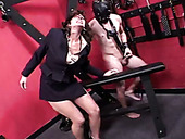 Mature hoe doggy fucked brutally in kinky BDSM fuck video