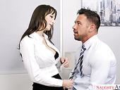 Sexy secretary Lexi Luna seduces handsome co worker Johnny castle
