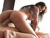 Desirable Latina with big boobs gets fucked bad doggy style