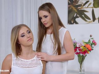 Aria Logan and sexy Alessandra Jane enjoying eachother on Sapphic Erotica