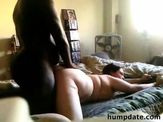 Chubby Interracial Couple Fucks In Different Positions