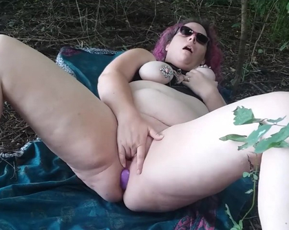 Playing in the forest