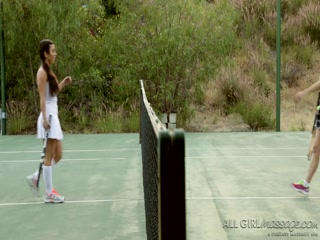 Hot Serena hits on her friend April after giving her massage