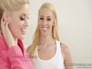 Naughty teacher Charlotte Stokely is hot for some girl fun
