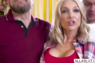 Hot Blonde Synthia meets her stepson