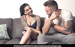 Casting francais horny tattooed newbie films first time porno scene