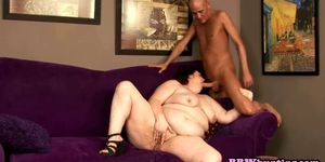 Obese redhead with huge tits fucked hard