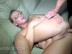 Cheryl is a trampy towheaded female who luvs to hold her gams elevated high while getting nailed