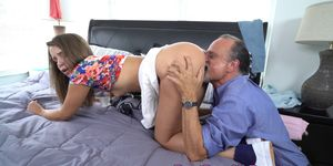 Big Ass Teen Doggy Style Fucked by Mature Cock